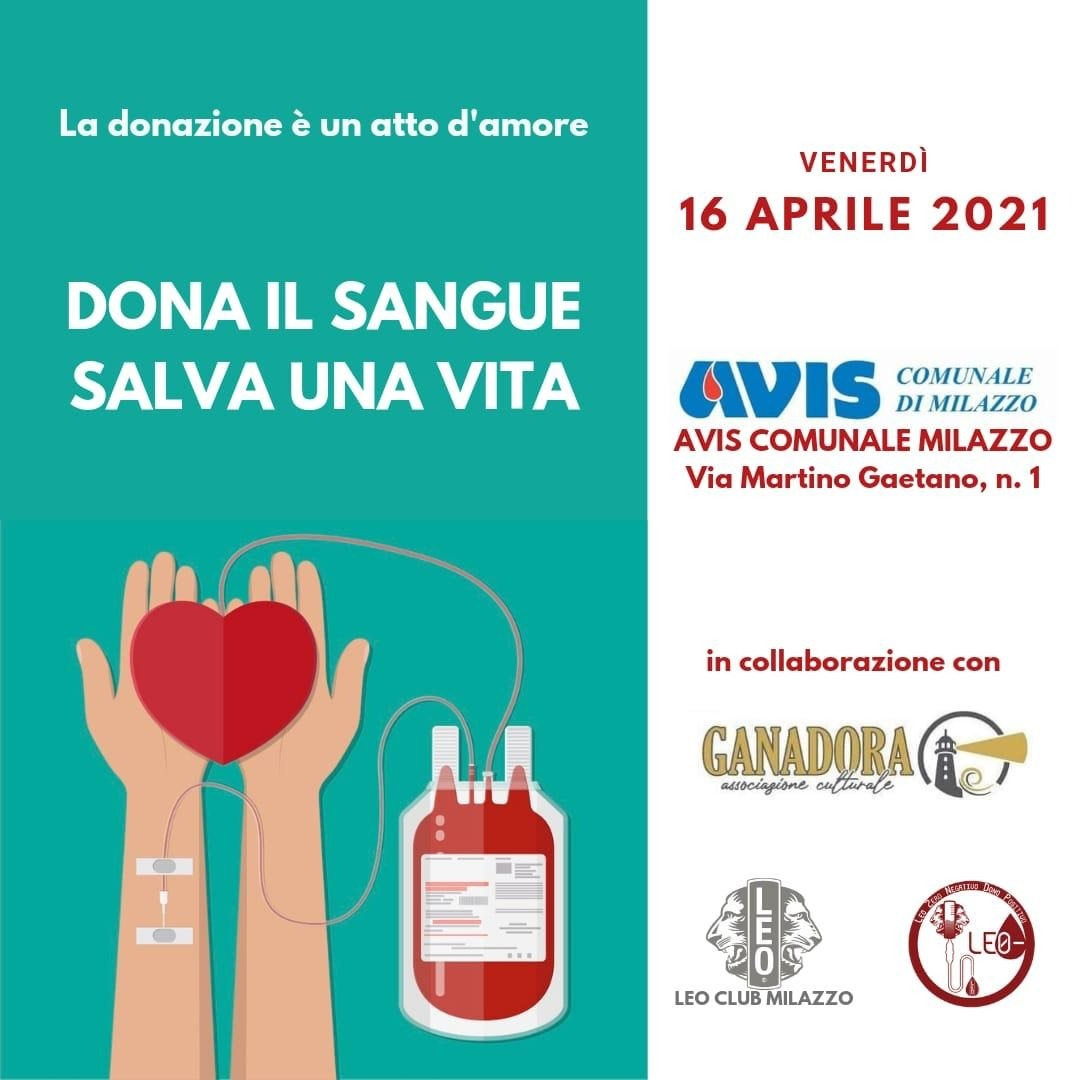 Dona il sangue salva una vita