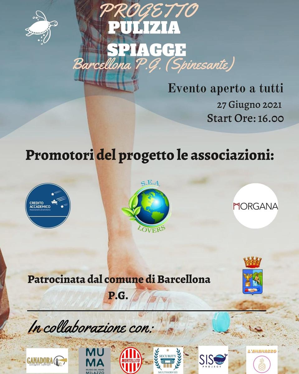 Progetto Pulizia Spiagge - Barcellona Pozzo di Gotto (Spinesante)